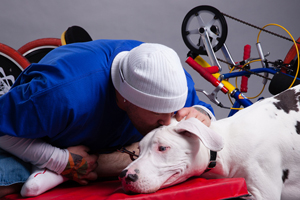 Tyler and Dog